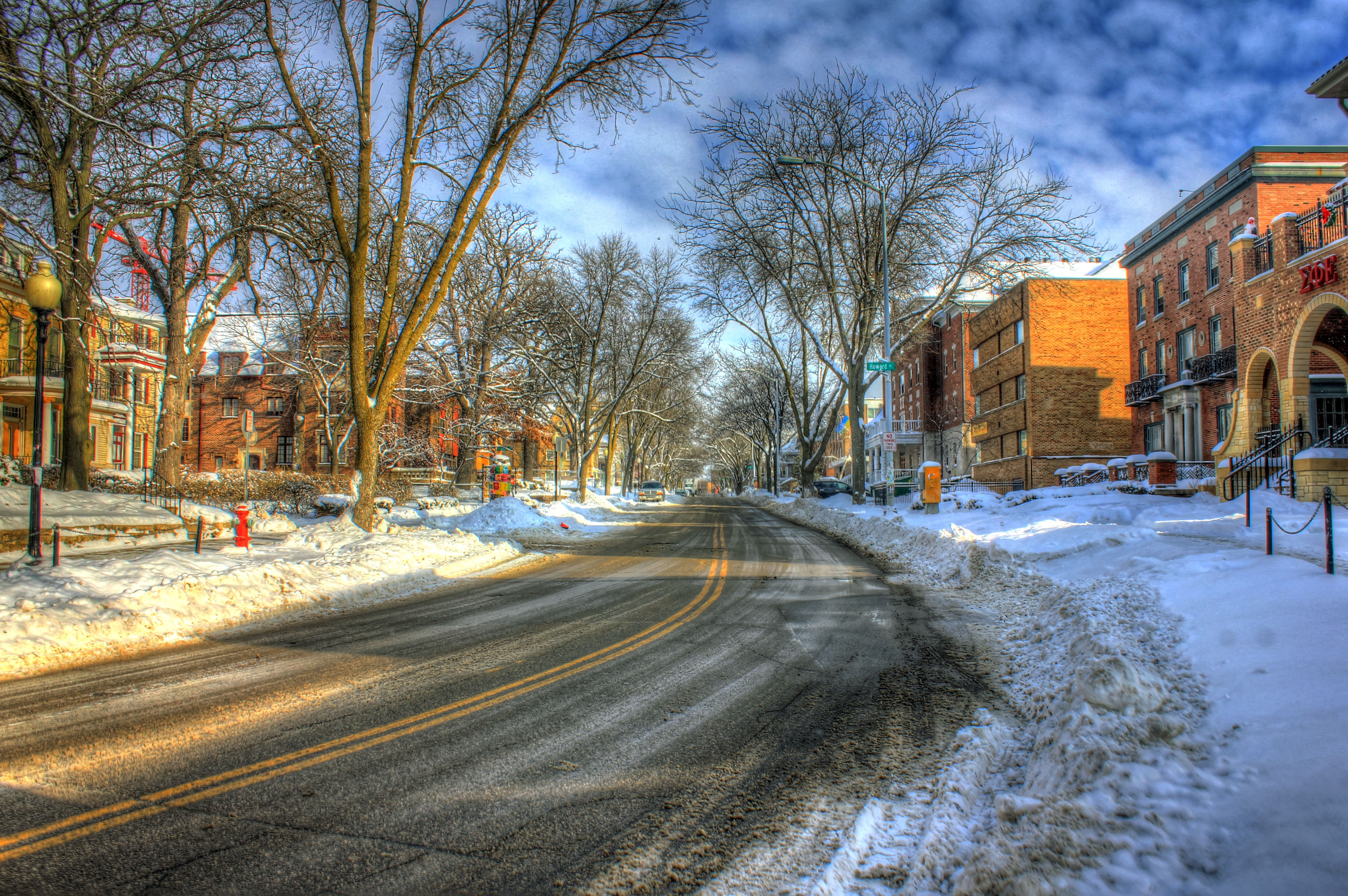 Fall Images Free Wallpaper Snowy Street In Madison Wisconsin Image Free Stock