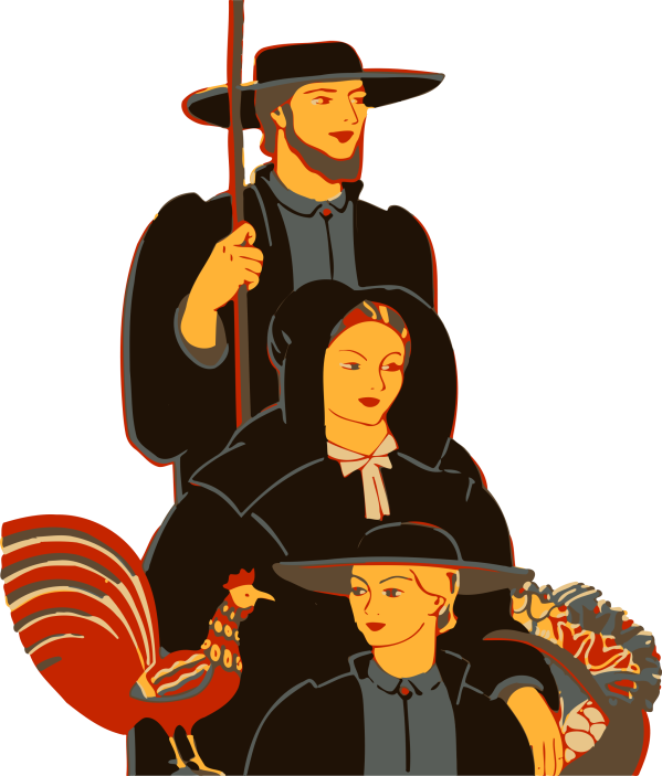 Amish Family Vector Clipart - Free Stock