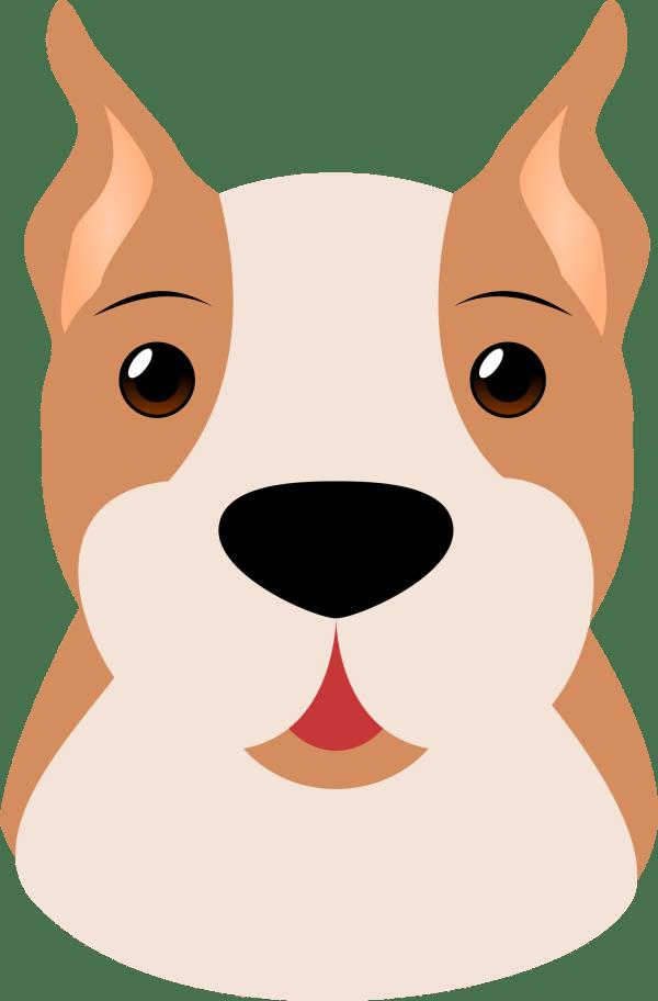 boxer dog face vector clipart