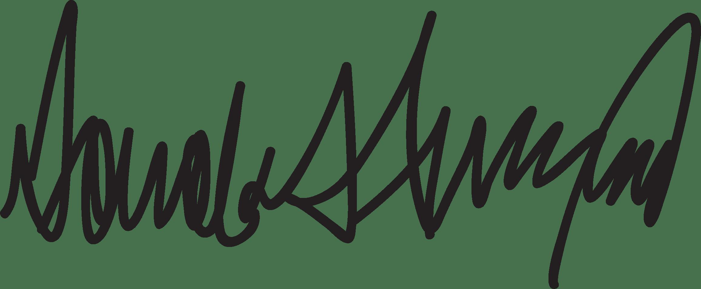 Donald Trump Signature Vector Clipart Image
