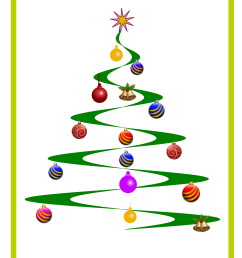 free photos vector images helix christmas tree vector clipart  [ 1697 x 2400 Pixel ]
