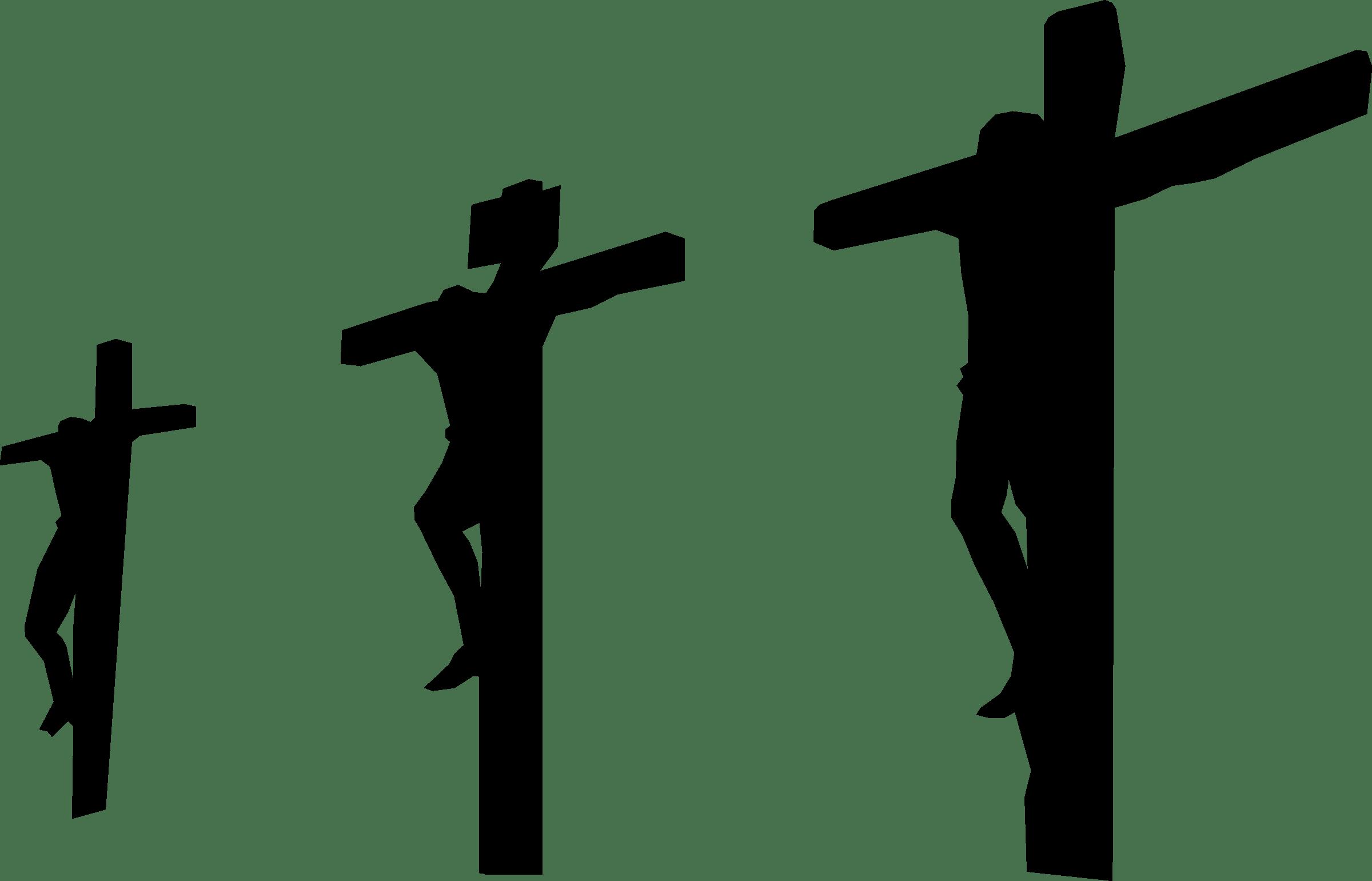 jesus crucifixion with three
