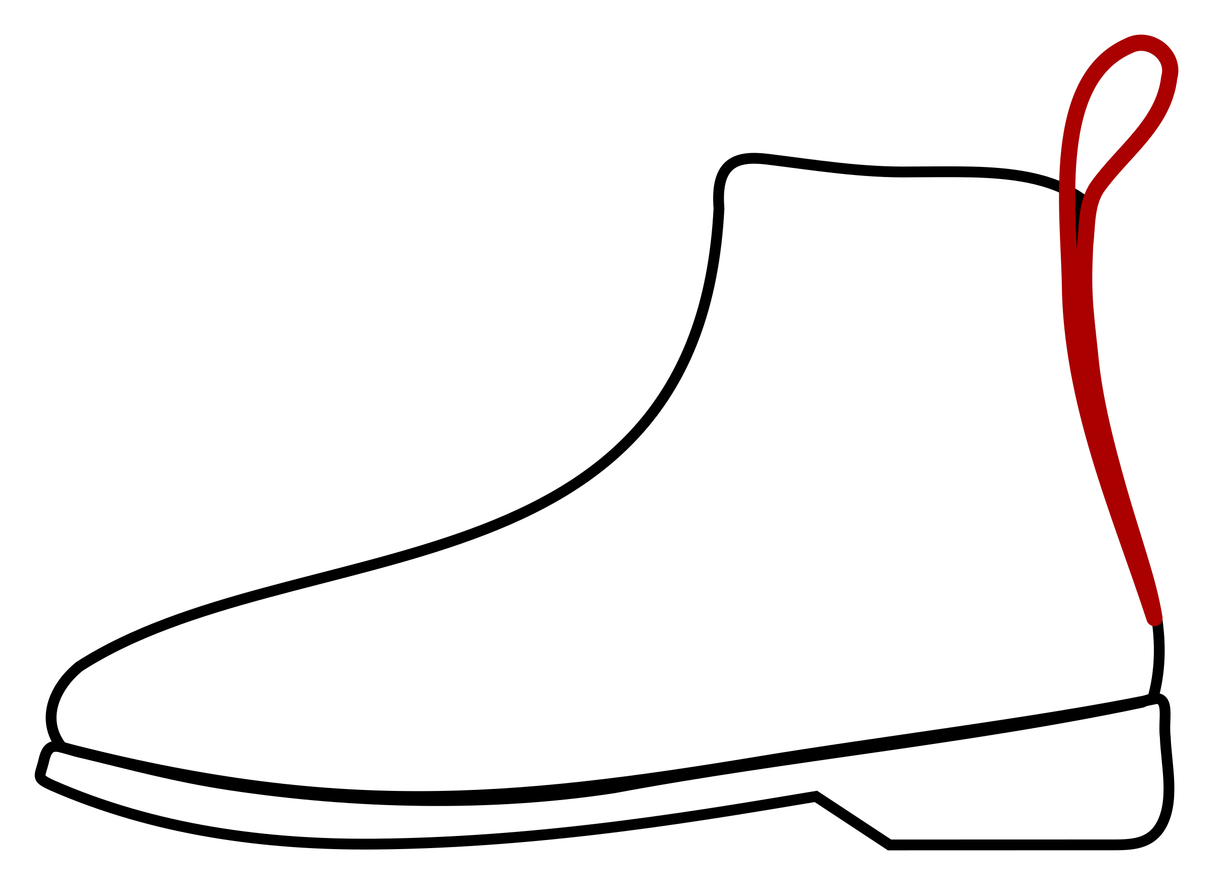 Leather Boot Vector Clipart Image