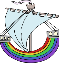 free photos vector images rainbow boat vector clipart  [ 2400 x 2178 Pixel ]