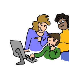 free photos vector images three people working together vector clipart  [ 2400 x 1790 Pixel ]