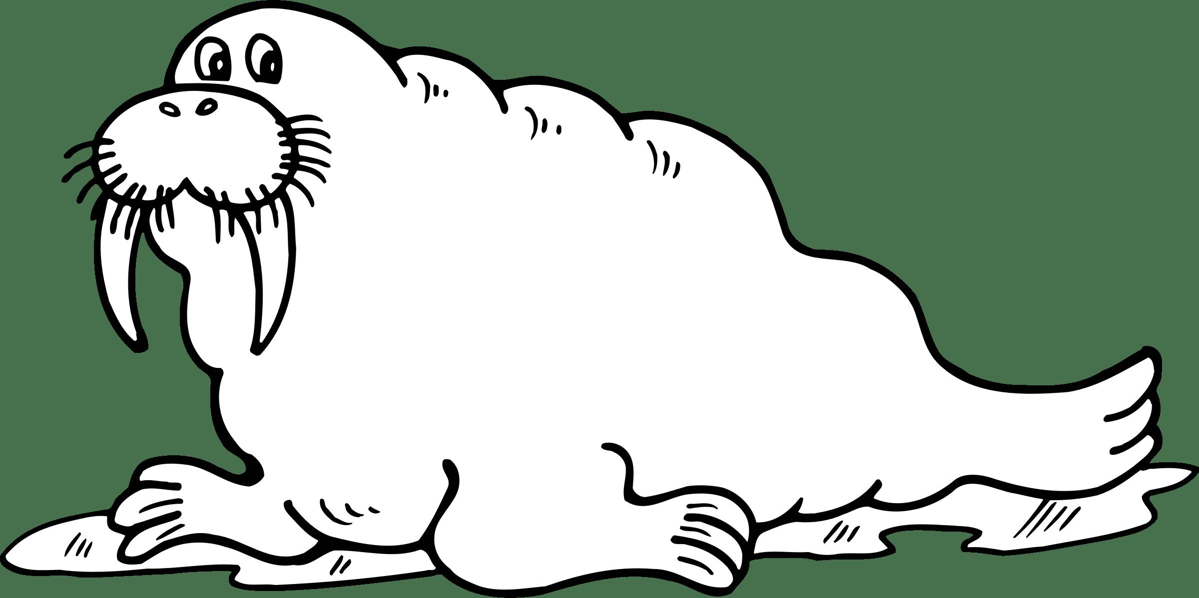 Walrus Cartoon Vector Clipart Image