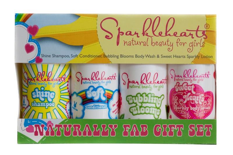 Sparkle hearts giftset_biologische huidverzorgingsproducten voor kinderen
