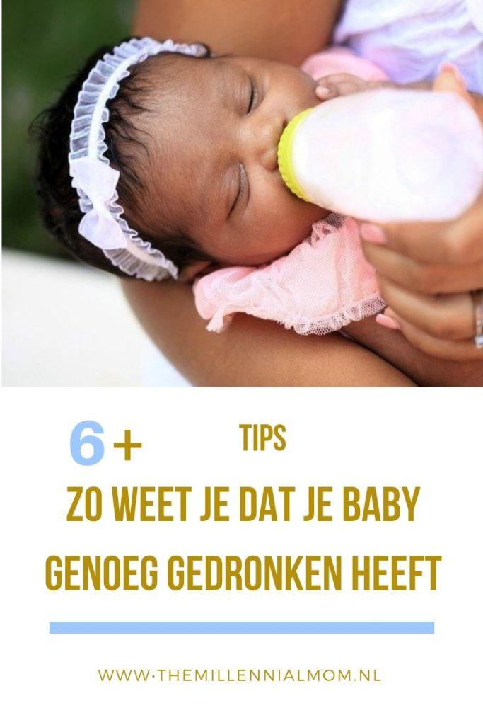 tips baby genoeg gedronken