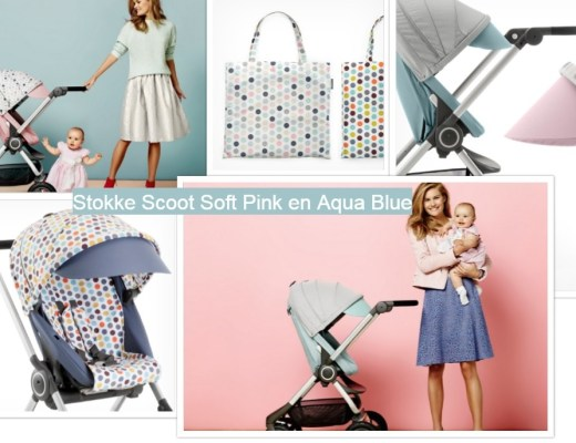 Stokke Scoot- Soft Pink and Aqua Blue-Style Kits Soft Dots and Retro Dots-GoodGirlsCompany