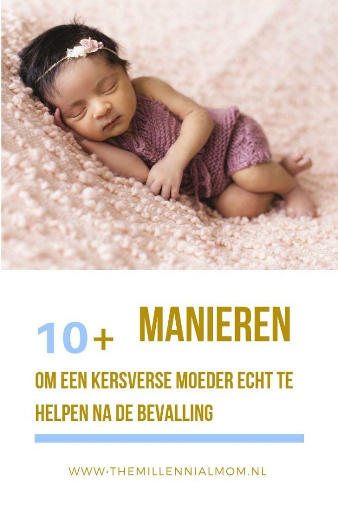 kersverse moeder helpen na bevalling
