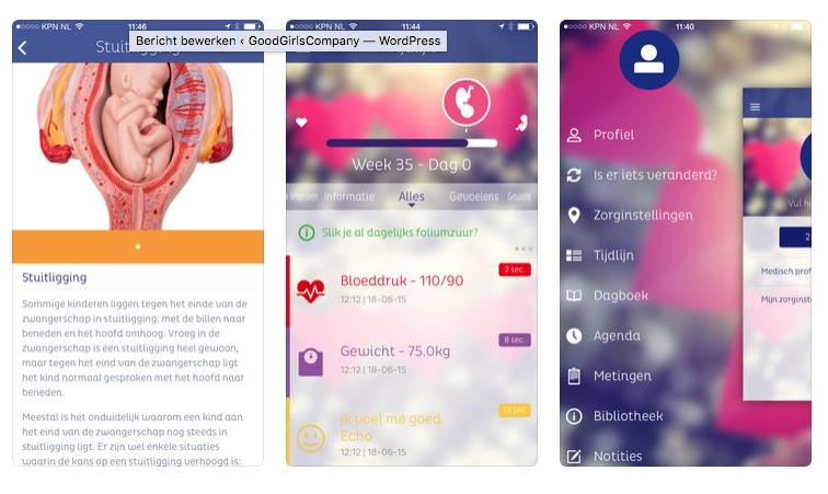 Zwangerschaps apps ZwApp