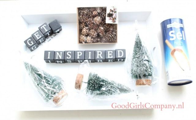Knutselen met spullen de de Action-kerstspulletjes van de Action-GoodGirlsCompany