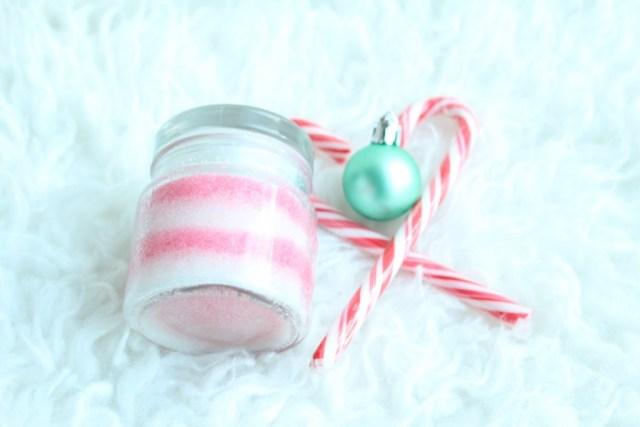 Peppermint Candy Cane Sugar Scrub-GoodGirlsCompany-sugar scrub maken
