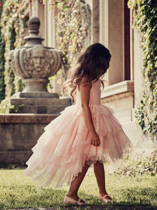 H&M Sweet Secret garden-pink chiffon dress-GoodGirlsCompany-budget bruidsmeisjesjurk-