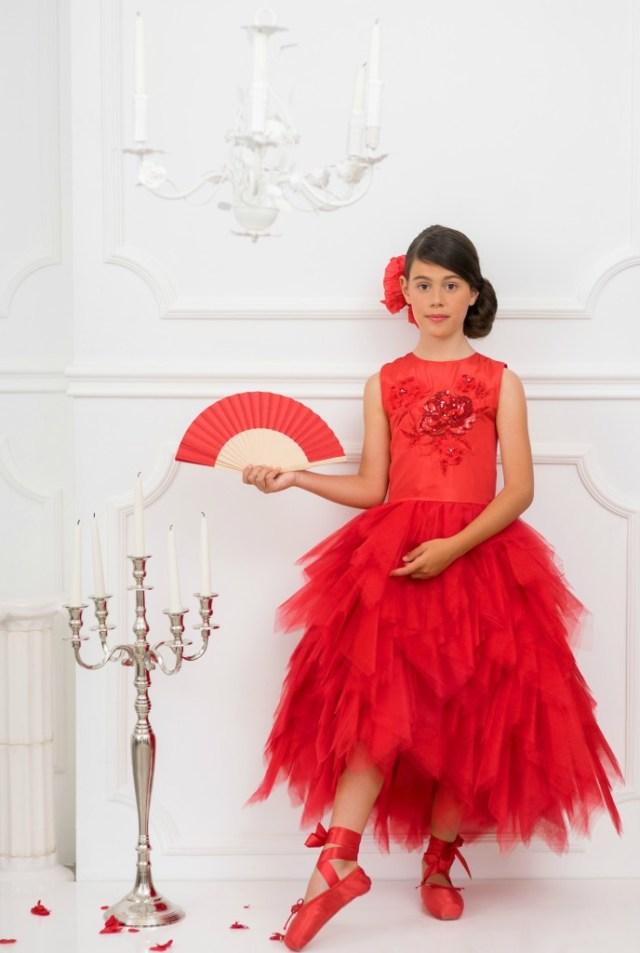 Kanten feestjurkjes voor meisjes-feestjurken met tule-GoodGirlsCompany-feestjurken voor bruiloft