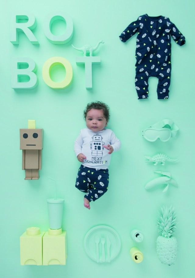 Z8 Newborn Limited Edition- Robot tee-GoodGirlsCompany