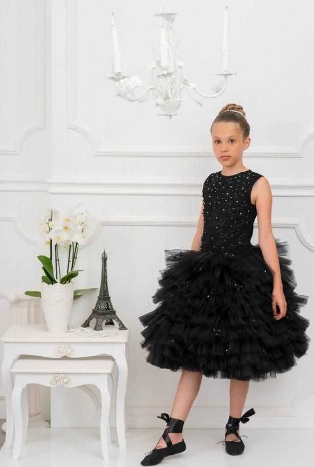 black swan dress-black tule dress-GoodGirlsCompany-zwarte tule jurk