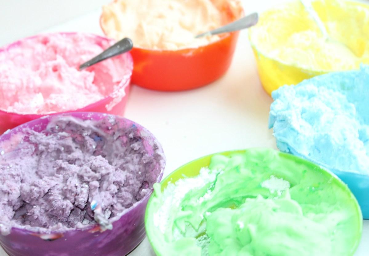 DIY: klei maken van scheerschuim en maizena