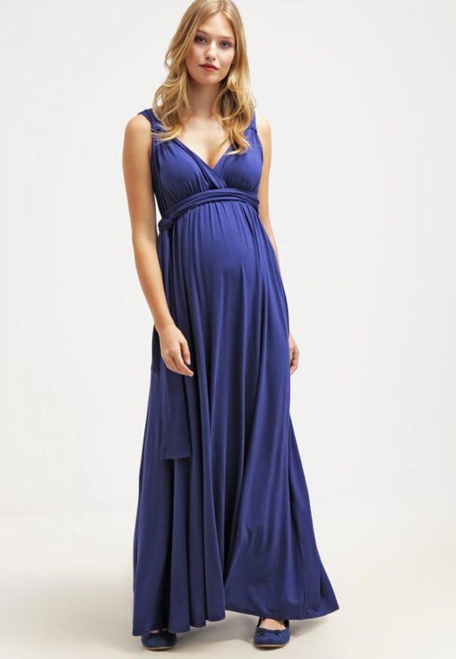 Envie de Fraises-donkerblauwe maxi jurk-Zalando