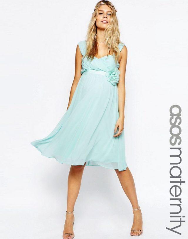 mintgroen jurk-zwangerschaps feestjurk-GoodGirlsCompany