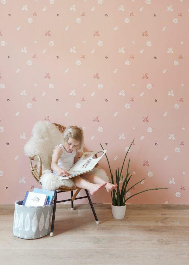 Roomblush Sweet wallpaper-peach wall paper-GoodGirlsCompany