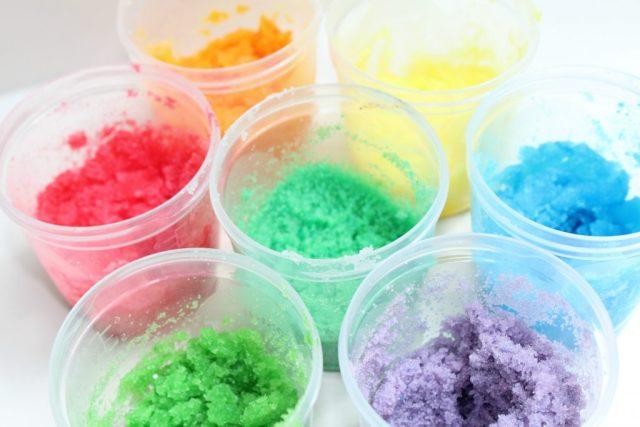 Regenboog Sugar Scrub-GoodGirlsCompany-DIY-gekleurde suiker