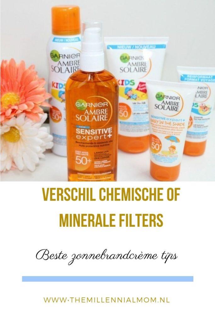 verschil zonnebrand met chemische of minerale filters