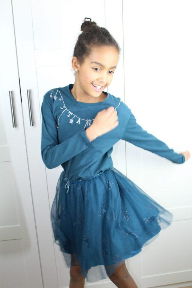 Zara-t shirt-petol-rokje-maat-152-detail-GoodGirlsCompany