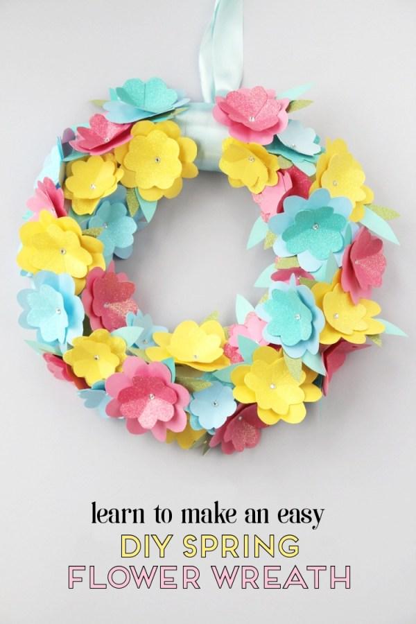 paaskrans maken met papierbloemen