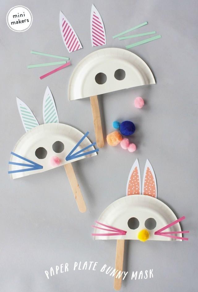 Maskers maken voor Pasen