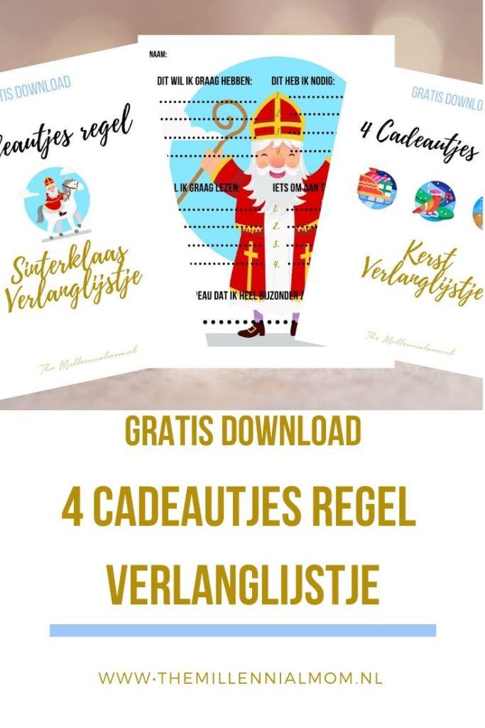 Gratis Download 4 cadeautjesregel