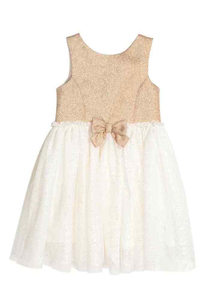 tulen jurk met goud-HM-GoodGirlsCompany