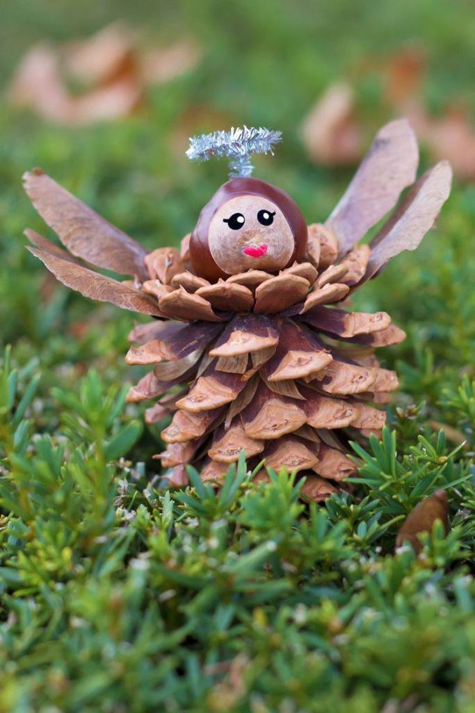 dennenappel engel-knutselen voor Kerst-GoodGirlsCompany