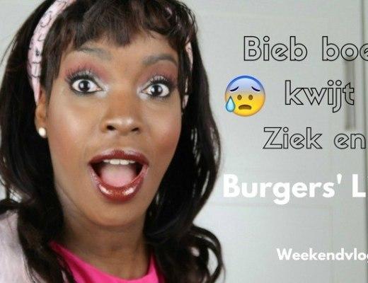 Weekendvlog 1 Bieb boek kwijt, ziek en Burgers' Light