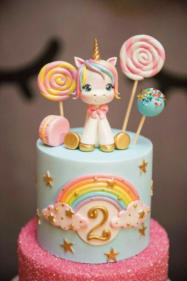 unicorn cake maken