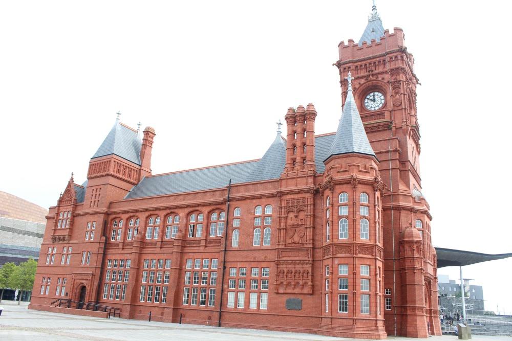 The Senedd Pierhead gebouw Cardiff
