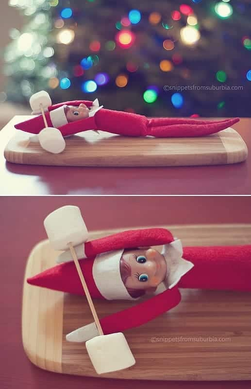 Elf-on-the-Shelf-Getting-a-Workout_The Millennial mom