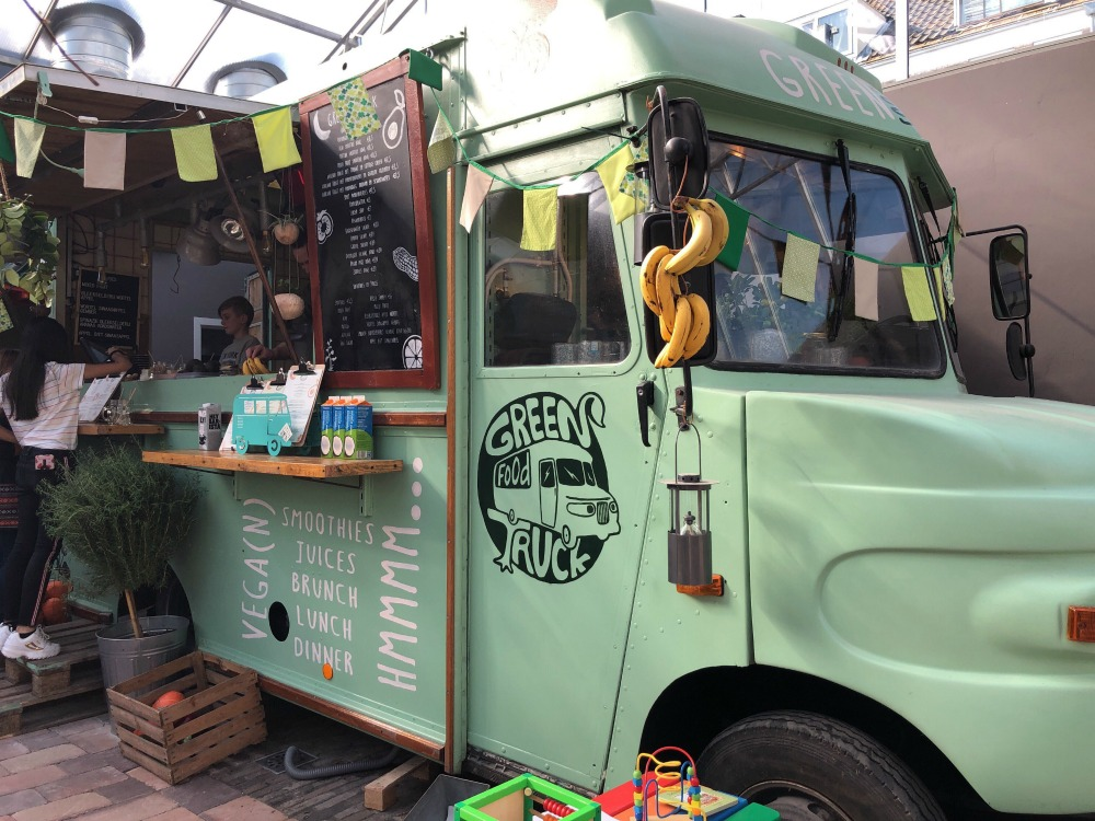green food truck