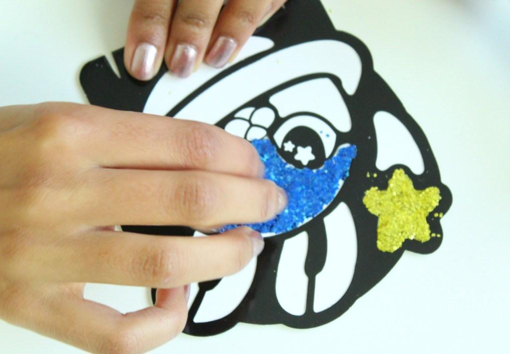 knutselen met glitters