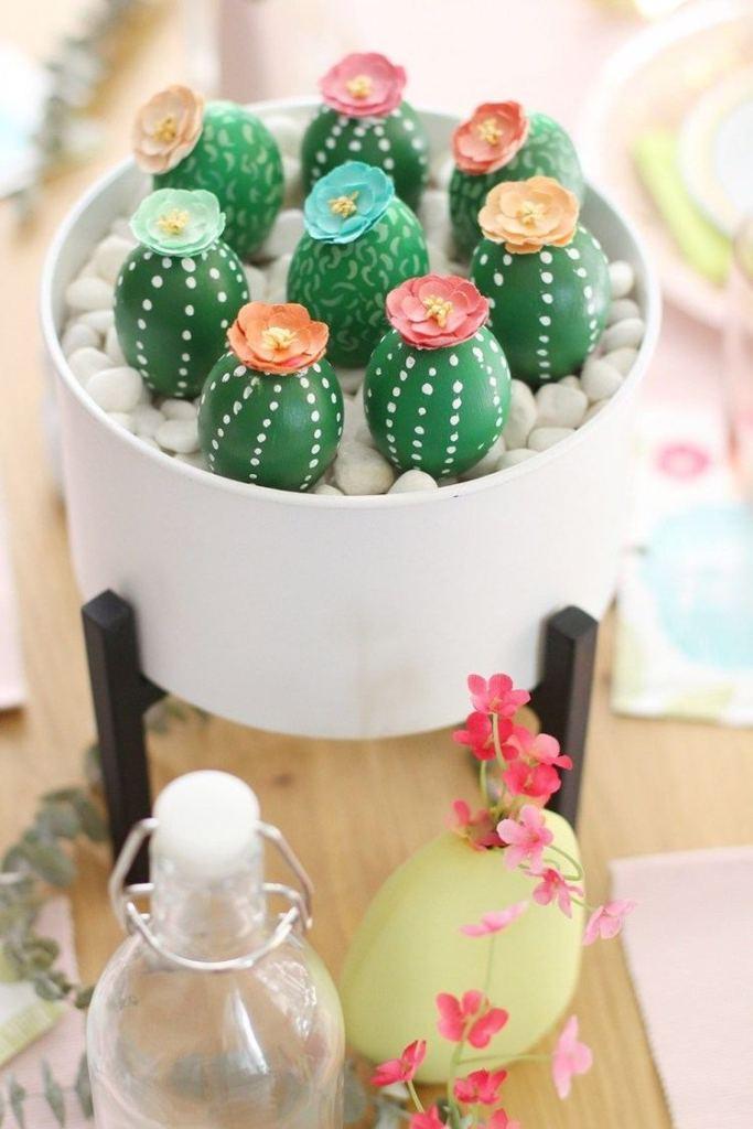 cactus bloemschikken paasstukje