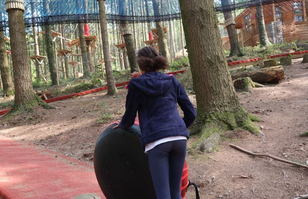 glijbaan Zip World Fforest treetop nets Wales The Millennial Mom