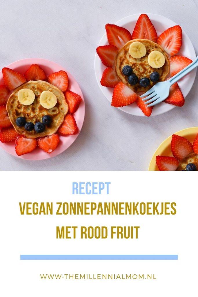 Vegan zonnepannenkoekjes met rood fruit maken