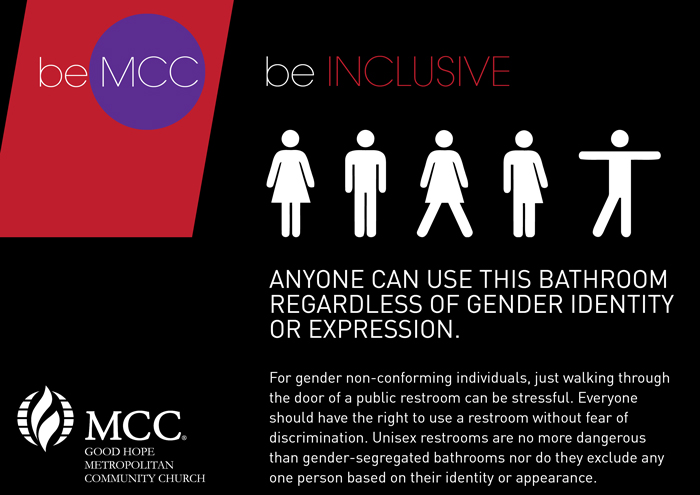 Gender Inclusive Bathrooms  Good Hope MCC Cape Town