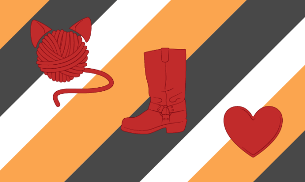 Boots and Cats Bungalow Flag