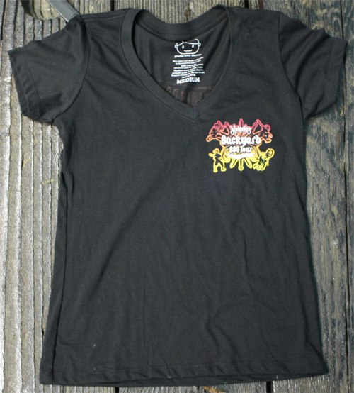 tour-vneck-front - JOURNEYS BACKYARD BBQ TOUR! Goodie Two Sleeves
