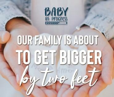 Cute Pregnancy Announcement Quote