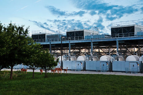 Google data center facility in Council Bluffs, Iowa. Credit: Google