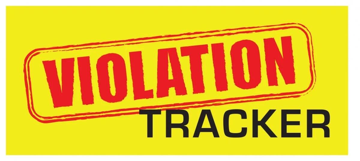 Violation Tracker Search Page