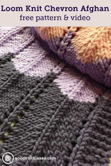 Loom Knit Ripple And Ridge Afghan Goodknit Kisses