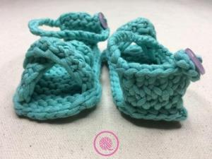 New Loom Knit Baby Sandals Video
